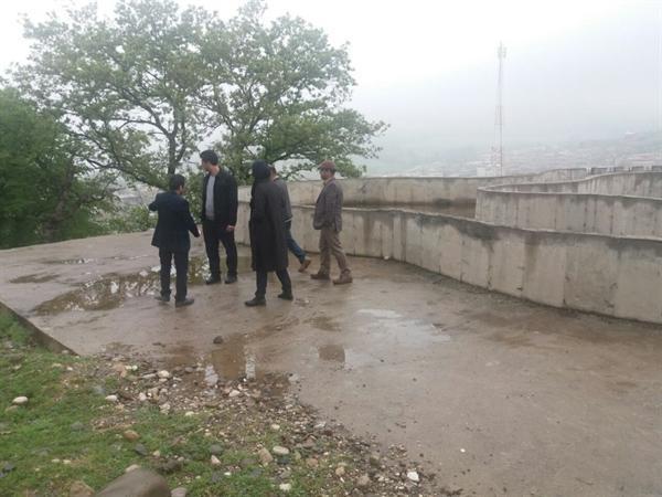شروع عملیات اجرایی تکمیل زیرساخت های گردشگری در پارک شبنم نوده خاندوز